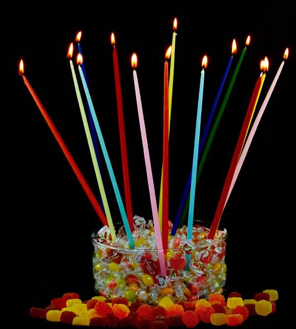 Cereria cosentino catania candele a stelo colorate for Candele colorate